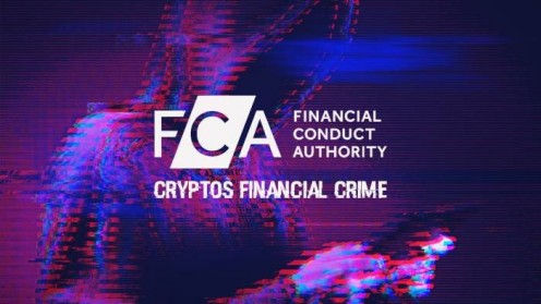 FCA logo on background of blurry man with hood holding phone