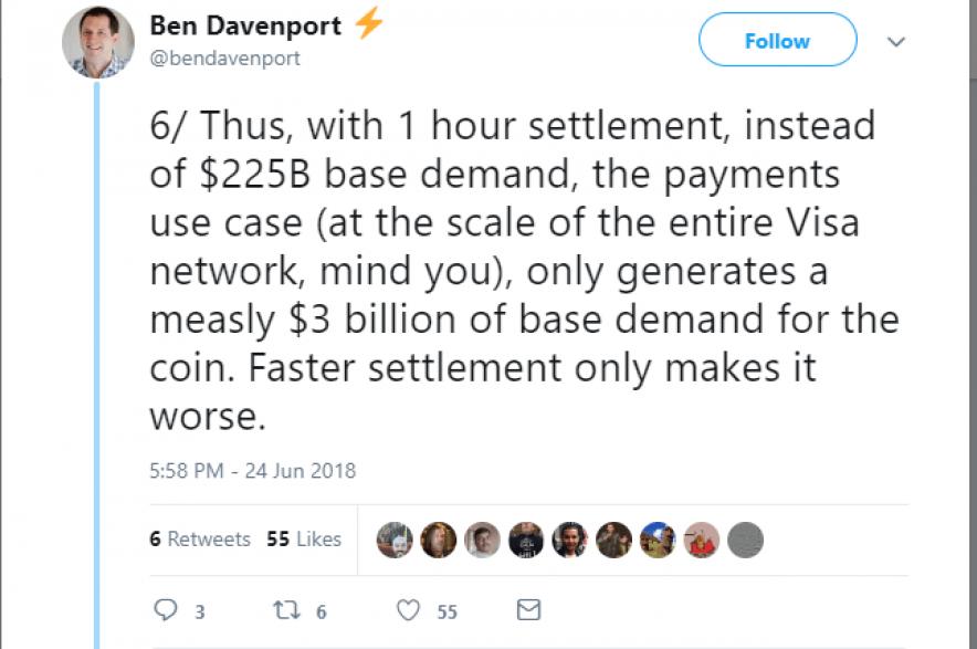 Ben Davenport response tweet